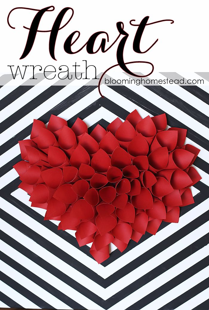 Simple And Easy Wreath Tutorial, This Would Be Perfect For Valentineu0027s Day  Decor!