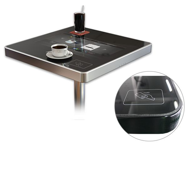 touch screen coffee table in restaurant touch screen table