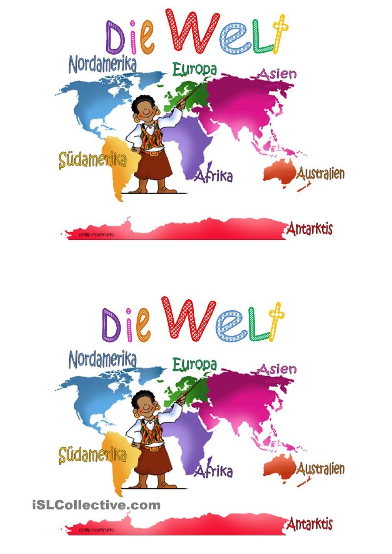 Die Welt und die Kontinente | Schule | Pinterest | Die kontinente ...