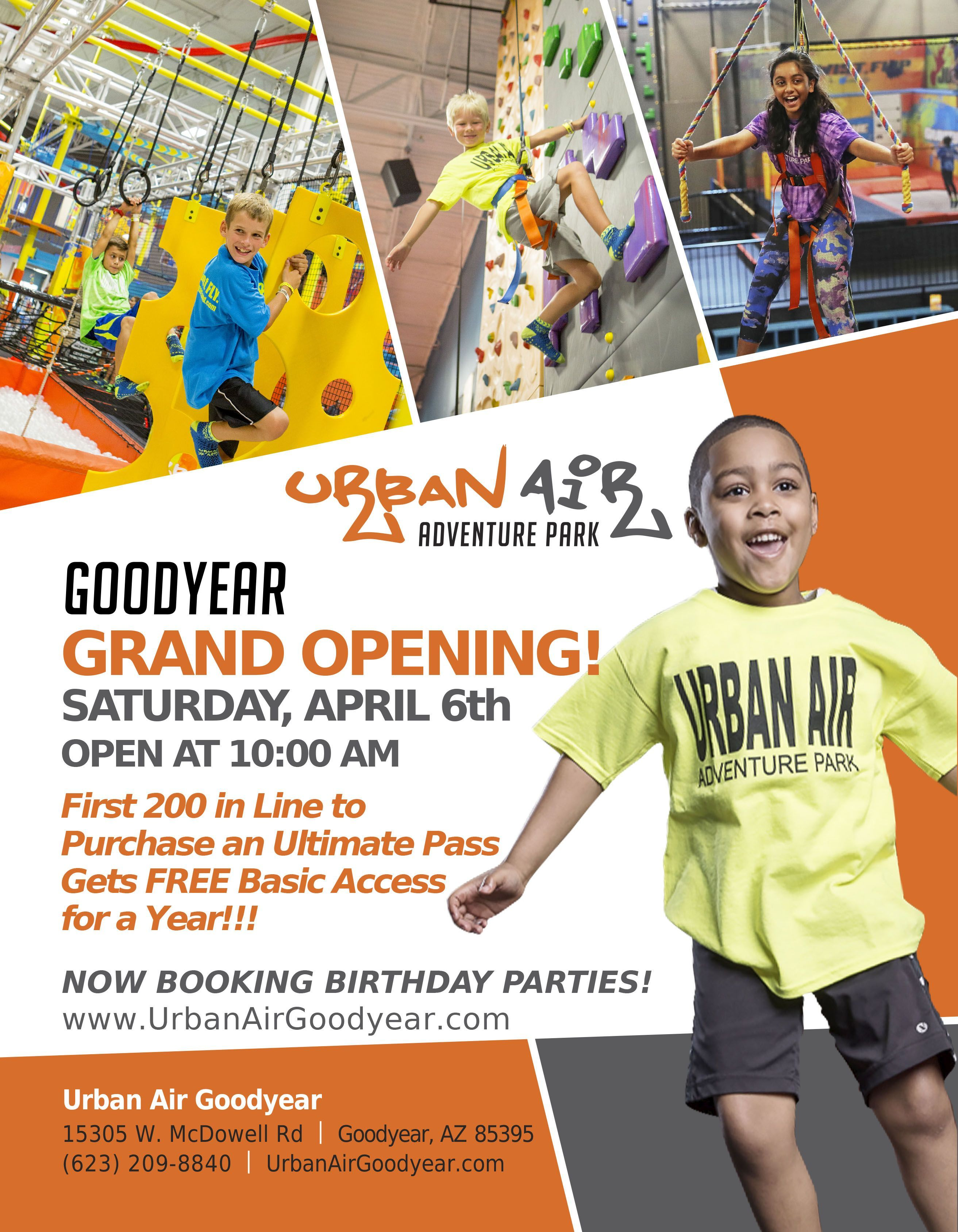 Urban Air Ahwatukee Urban, Indoor places, Grand opening