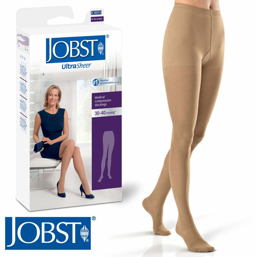 9d9b48d6a9e74 Jobst Womens UltraSheer Compression Pantyhose 30-40 mmhg Supports Stockings  Hose#Compression#Pantyhose#UltraSheer