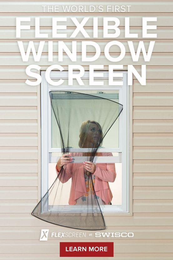 The World S First Flexible Window Screen Flexscreen At Swisco Simple Design Effortless Installation Damag Flexscreen Window Screens Flexible Window Screen