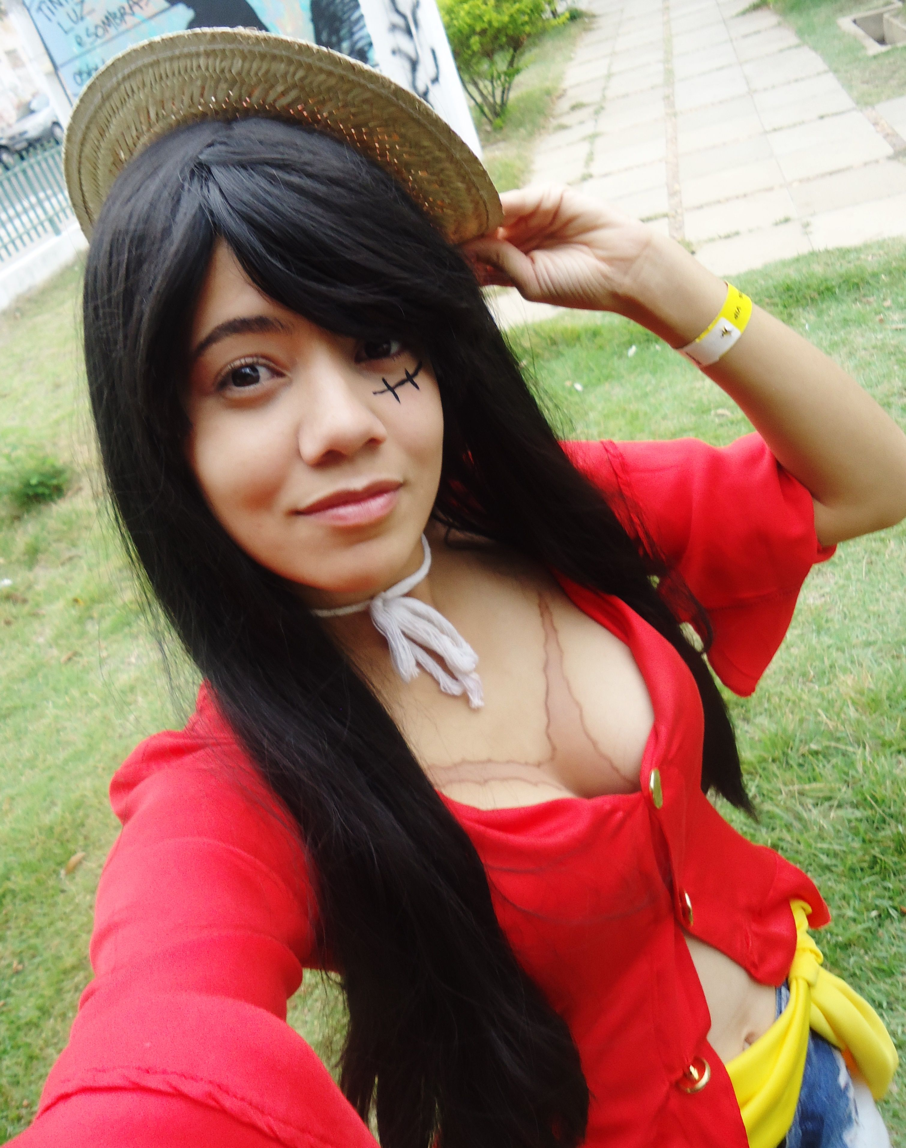 Cosplay Monkey D Luffy New World Female Version One Piece