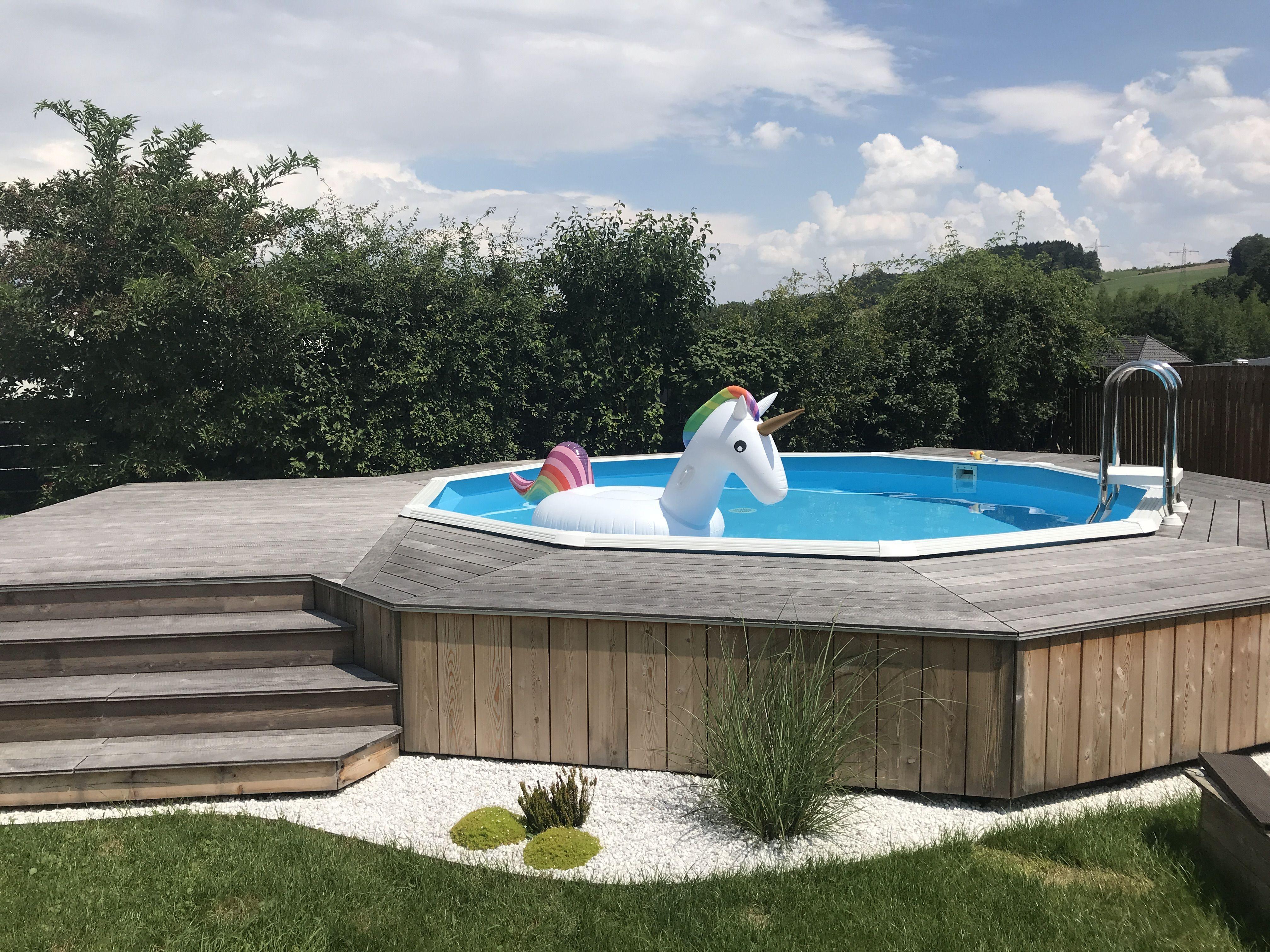 Pool Umrandung Pool Im Garten Hinterhof Pool Landschaftsbau Diy Schwimmbad