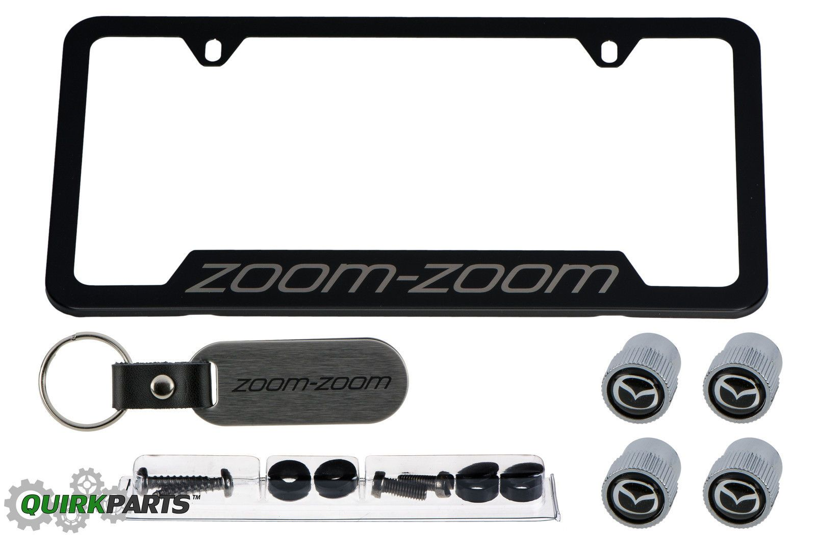 Awesome Great 2005-2013 Mazda Black License Plate Frame w/ Zoom-Zoom ...