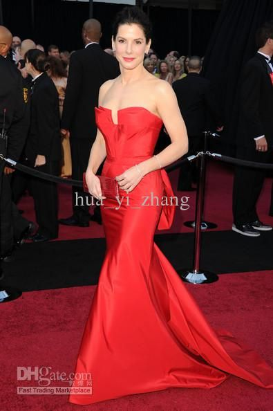 $115 Wholesale Wedding Accessories - Buy Sandra Bullock in Wang 83rd Oscar Awards Celebrity Red Carpet Dress Unique Design Celebrity Dresses, $94.25 | DHgate
