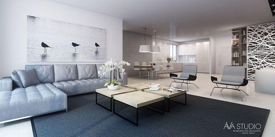 Arredare un open space cucina soggiorno moderno 02 | Amache ...