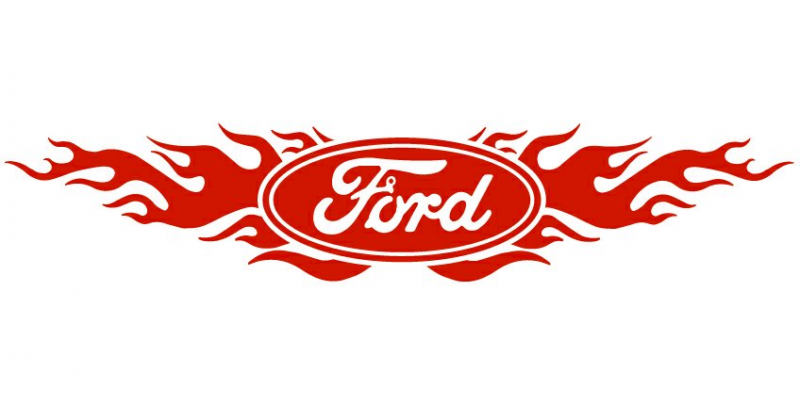 Ford Logo Decals Ford Flames Back Ford Logo Ford Emblem Ford
