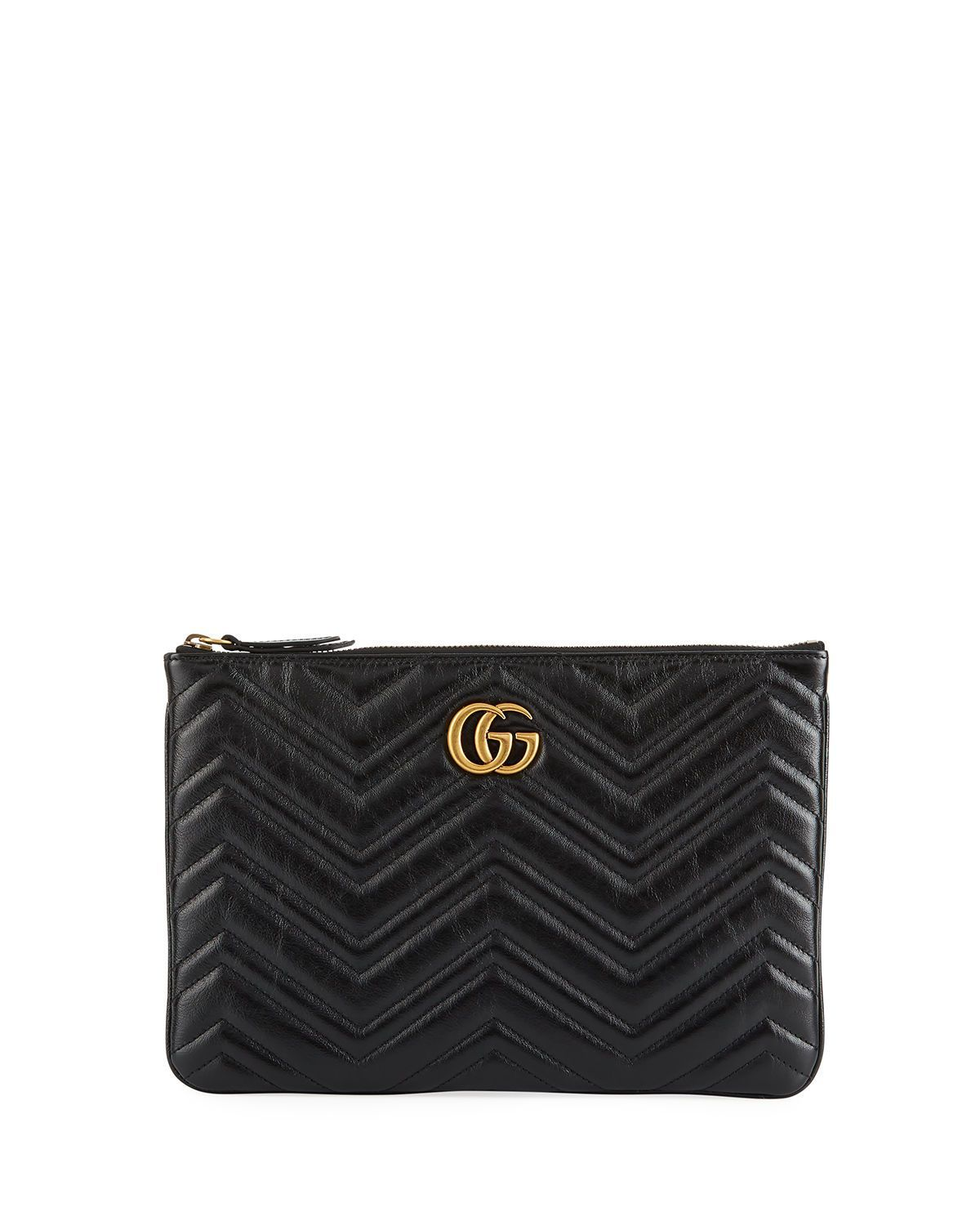 800b5ab7a GG Marmont Quilted Leather Zip Pouch Bag #guccipouchbag | Handbags ...