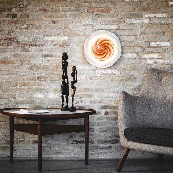 Le Klint Swirl Loftlampe/Væglampe Kobber - Køb her!