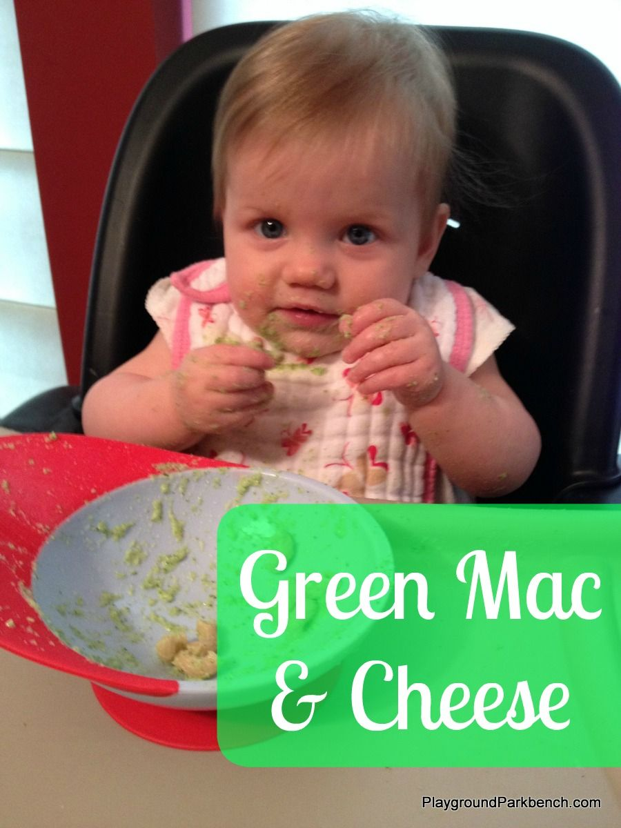 Green Mac and Cheese   Baby led weaning, Baby eating, Mac ...