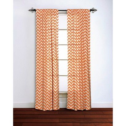 Chevron Curtain Panel 100 Cotton Chevron Curtains Orange Curtains Curtain Single Panel
