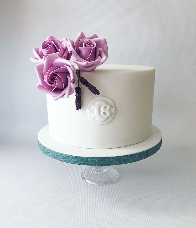 Groovy Elegant 18Th Birthday Cake By Olivias Cake Boutique Pastel Funny Birthday Cards Online Overcheapnameinfo