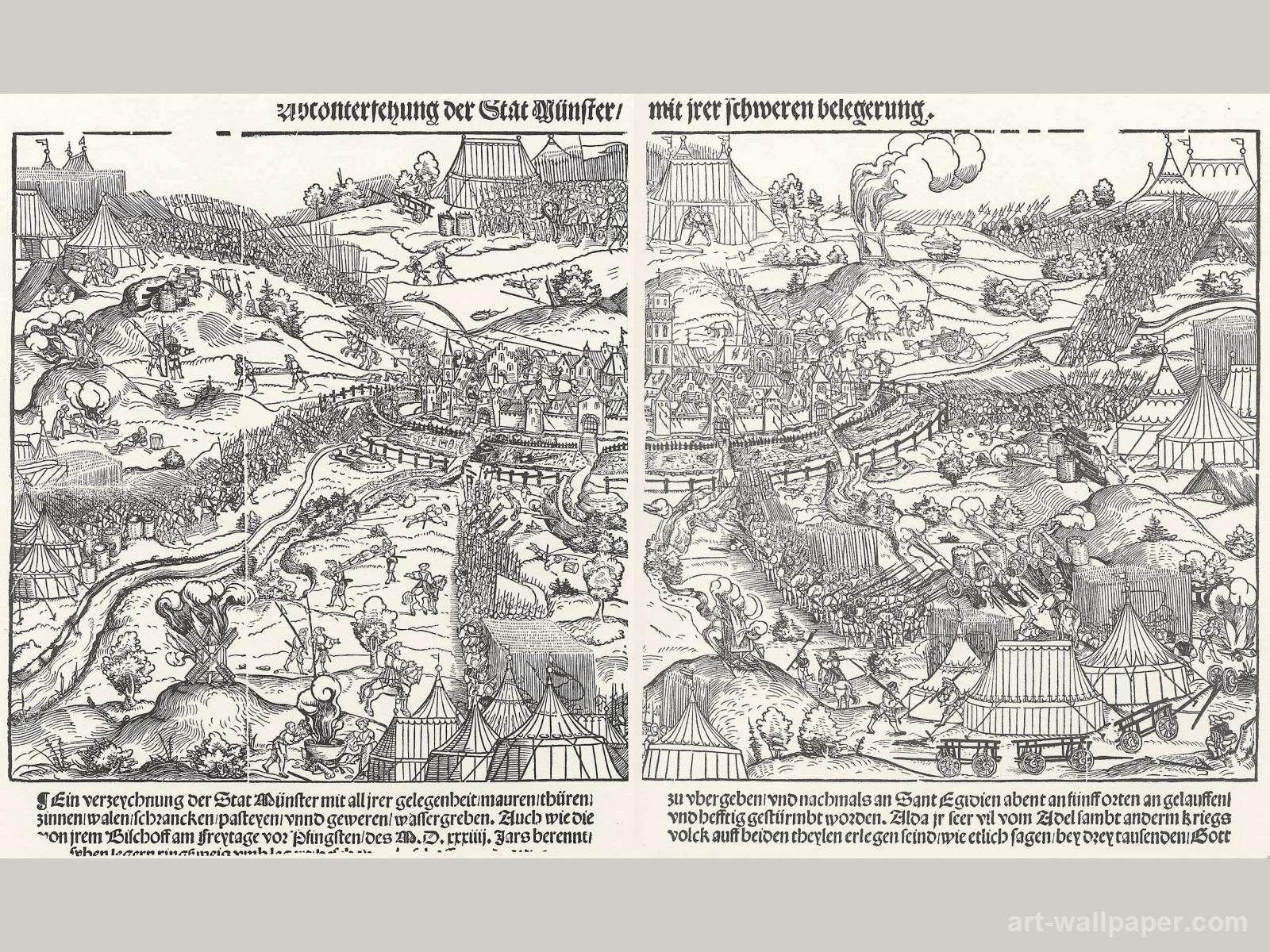 The Siege Of Munster Schoen Erhard Wallpapers History Nerd Vintage World Maps Munster