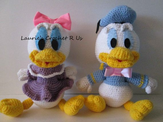 Quality Handmade Crochet Donald Duck Or Daisy By Lauriescrochetrus