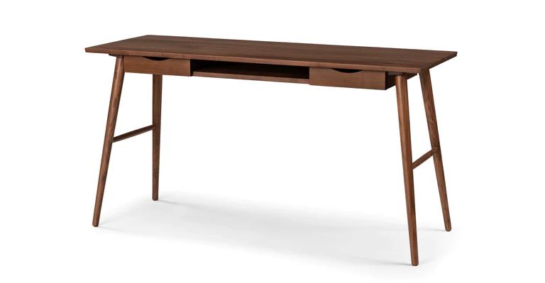 Mid Century Modern Contemporary Scandinavian Desks Article Walnut Desks Walnut Desk Modern Modern Desk