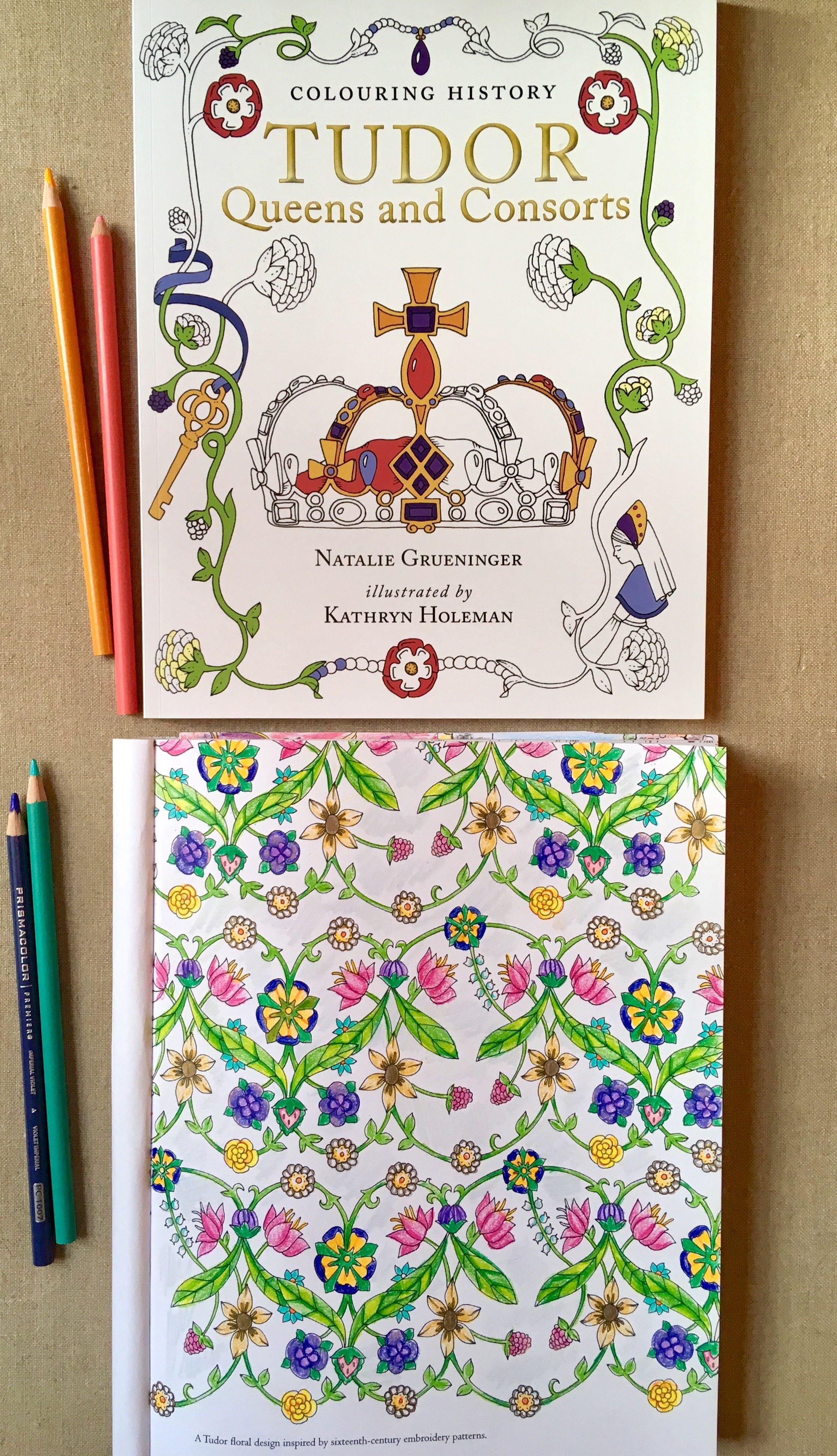 Tudor England Floral Patterns Colouring Tudor History Tudor History History Gift Floral Pattern