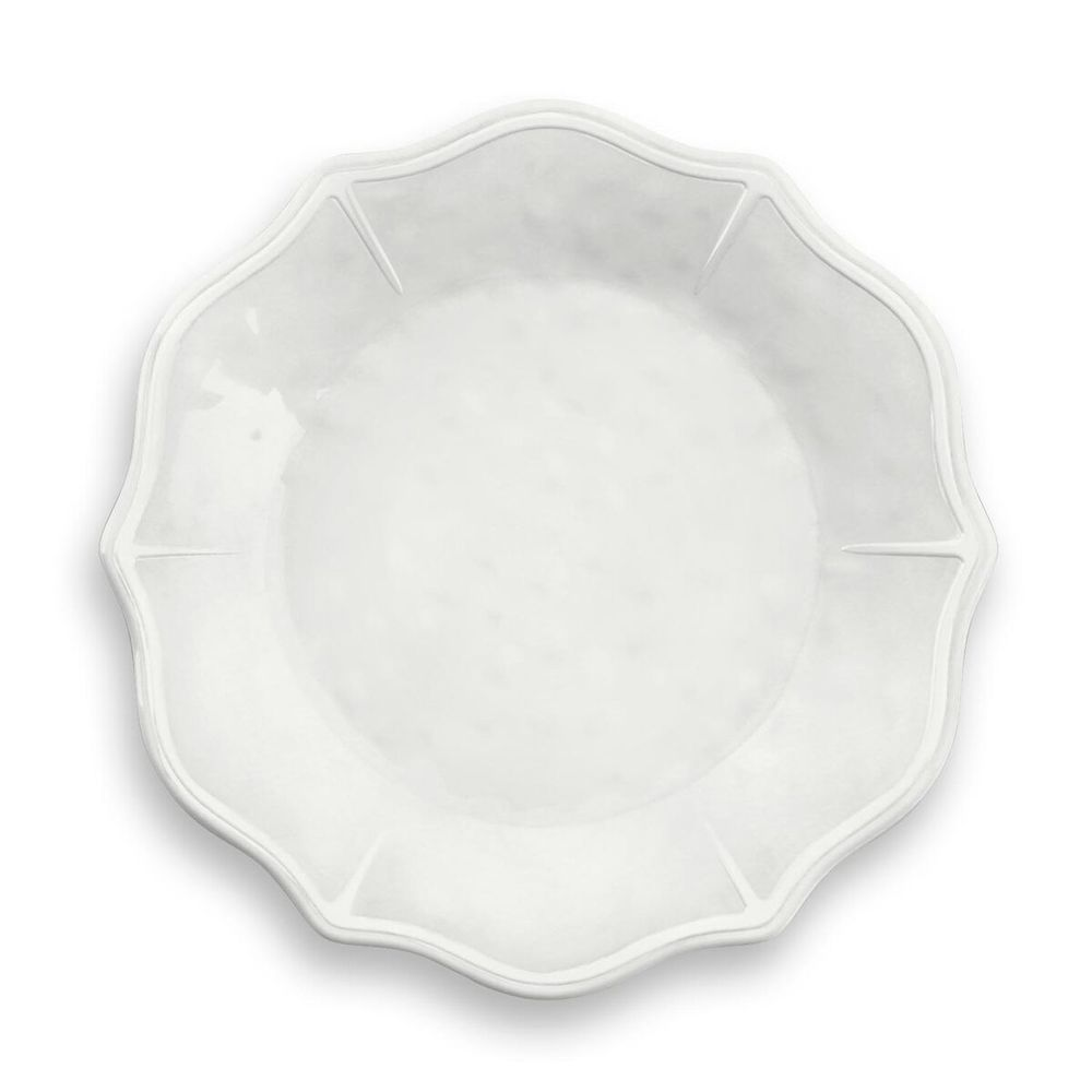 "Square White Melamine Dinner Plates Set of 6 Indoor Outdoor Large 10/"""