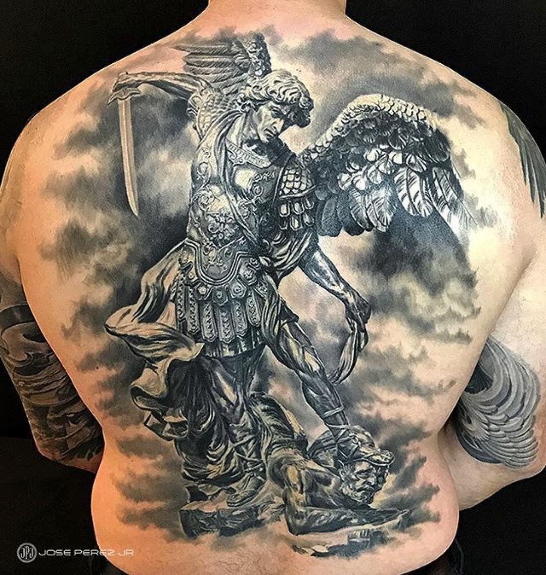 archangel michael tattoo - 735×774