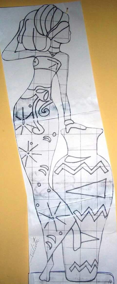 Delineado o aplicación | African painting | Pinterest | Delineados ...