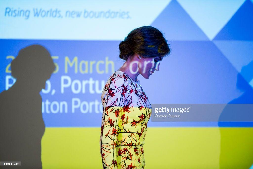 Queen Letizia of Spain during the 7th European Conference 'Tobacco or Health' in Porto on March 23, 2017 in Porto, Portugal.