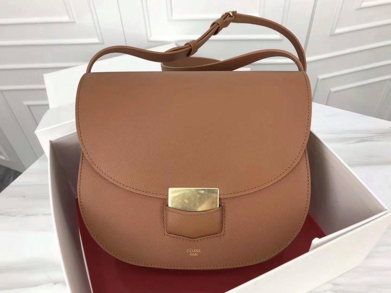 015b4851047e Celine COMPACT TROTTEUR BAG IN GRAINED CALFSKIN Tan - Bella Vita Moda  #celine  celine