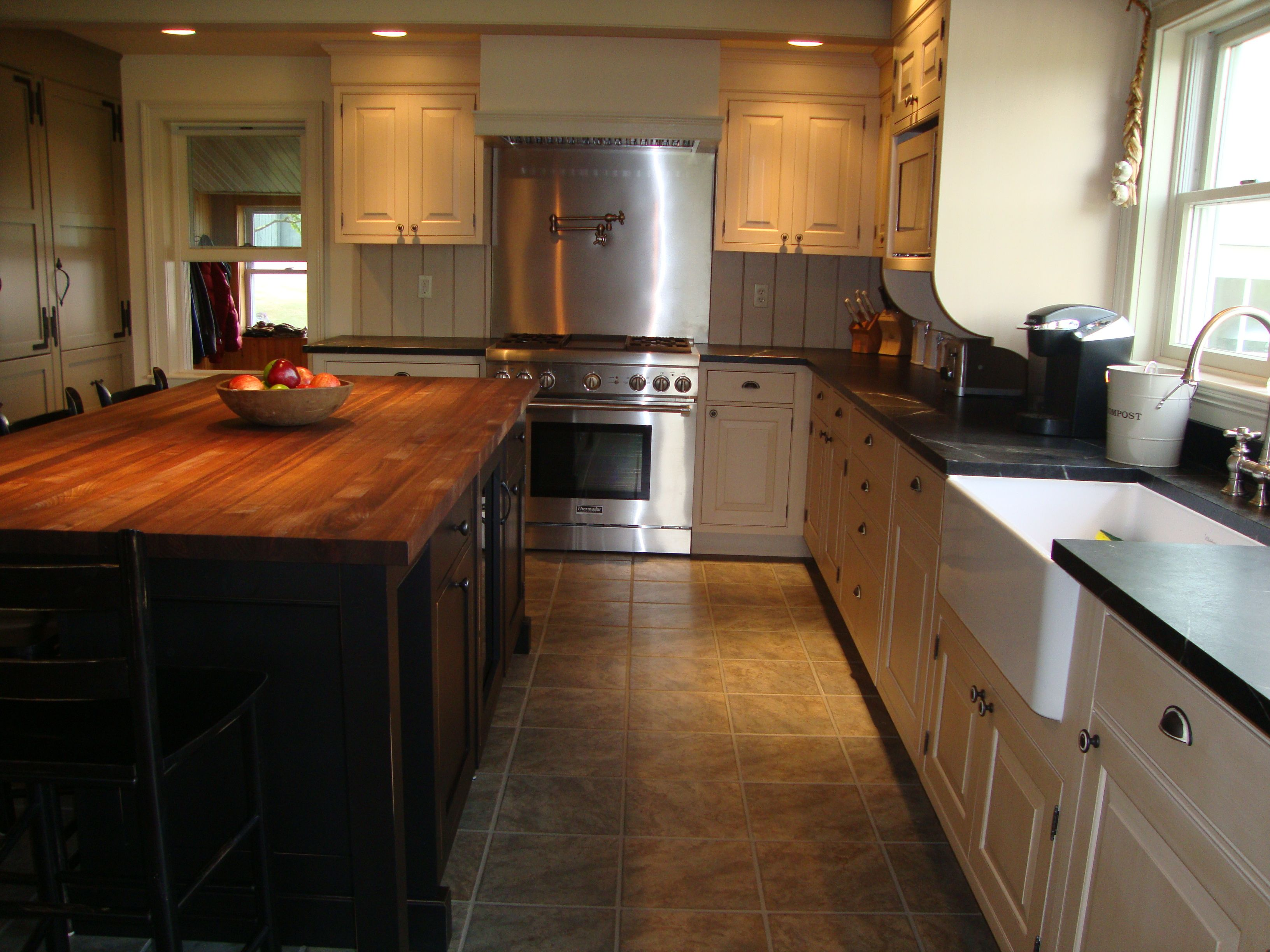 Kitchen Island Butcher Block Tops Antique White Cabinets Black Island Google Search Turks Bound