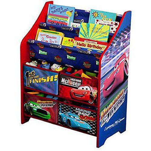 Disney Cars Book And Toy Organizer Red Creative Storage System Brilliant Colors Medium Density Fiberboard Wood Panels E Toy Organization Cars Room Kids Storage