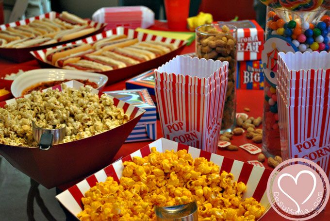 Circus Party Food Camerons Birthday Party Pinterest Circus