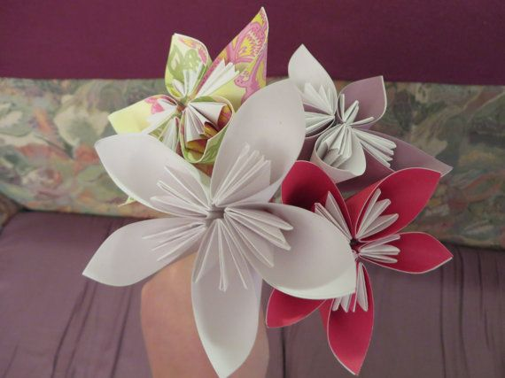Flower Origami Bouquet Of Flowers Paper Made Flower Has Hand Craft