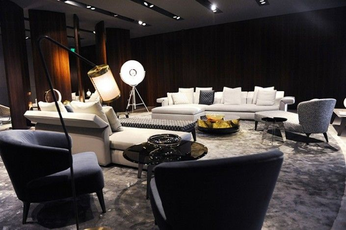 Minotti showroom in miami design district miami design district
