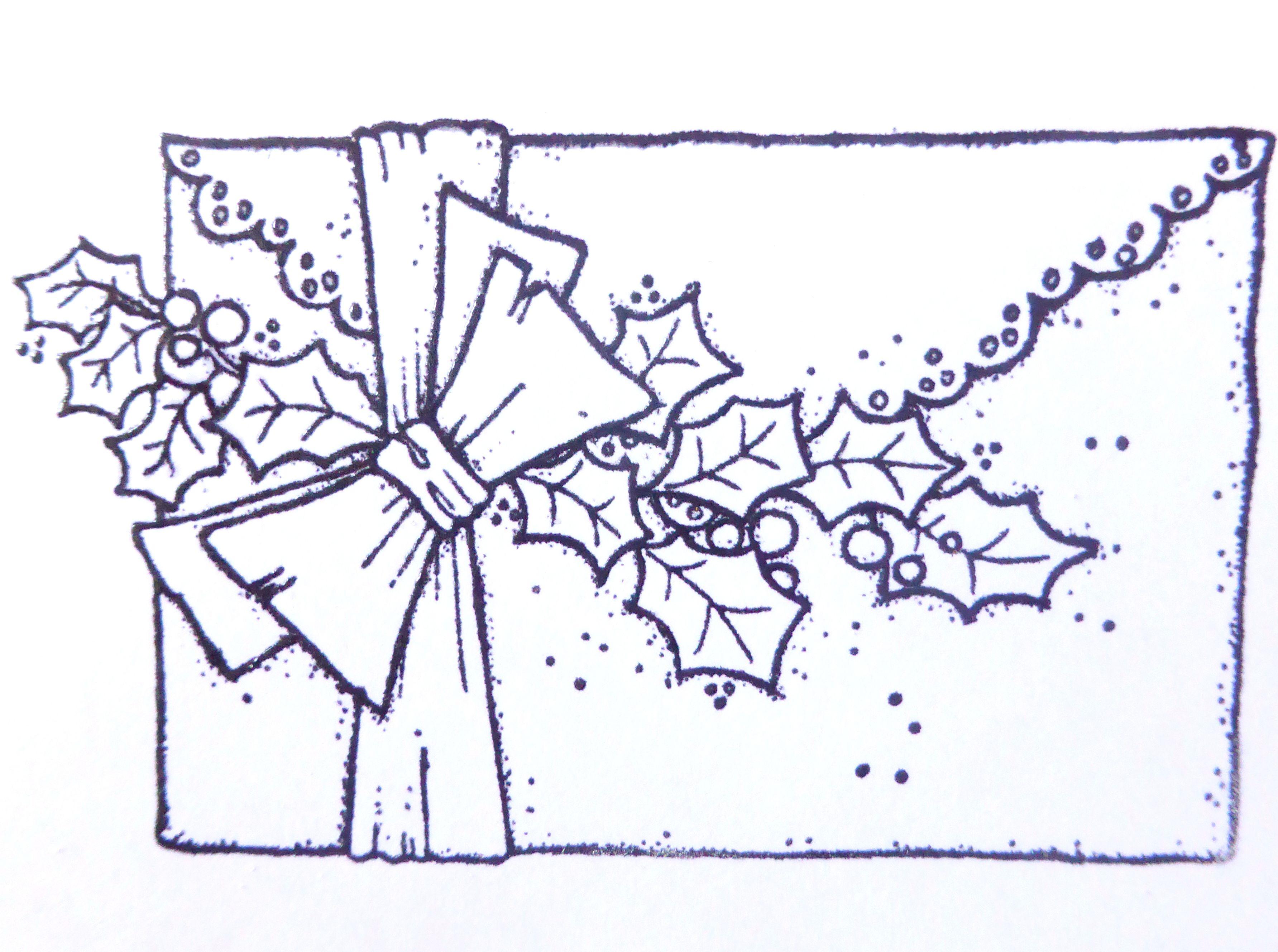 Enveloppe de noel cart es em vegetal ii pinterest magnolias tarjeteria espa ola y pergamino - Enveloppe de noel ...