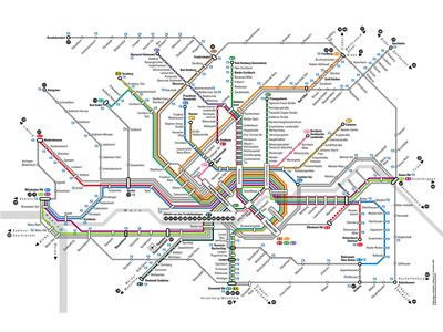 visualcomplexitycom Frankfurt U and SBahn route map
