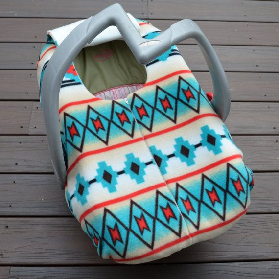 southwest car seat cover for baby winter native american tribal infant carseat canopy. Black Bedroom Furniture Sets. Home Design Ideas