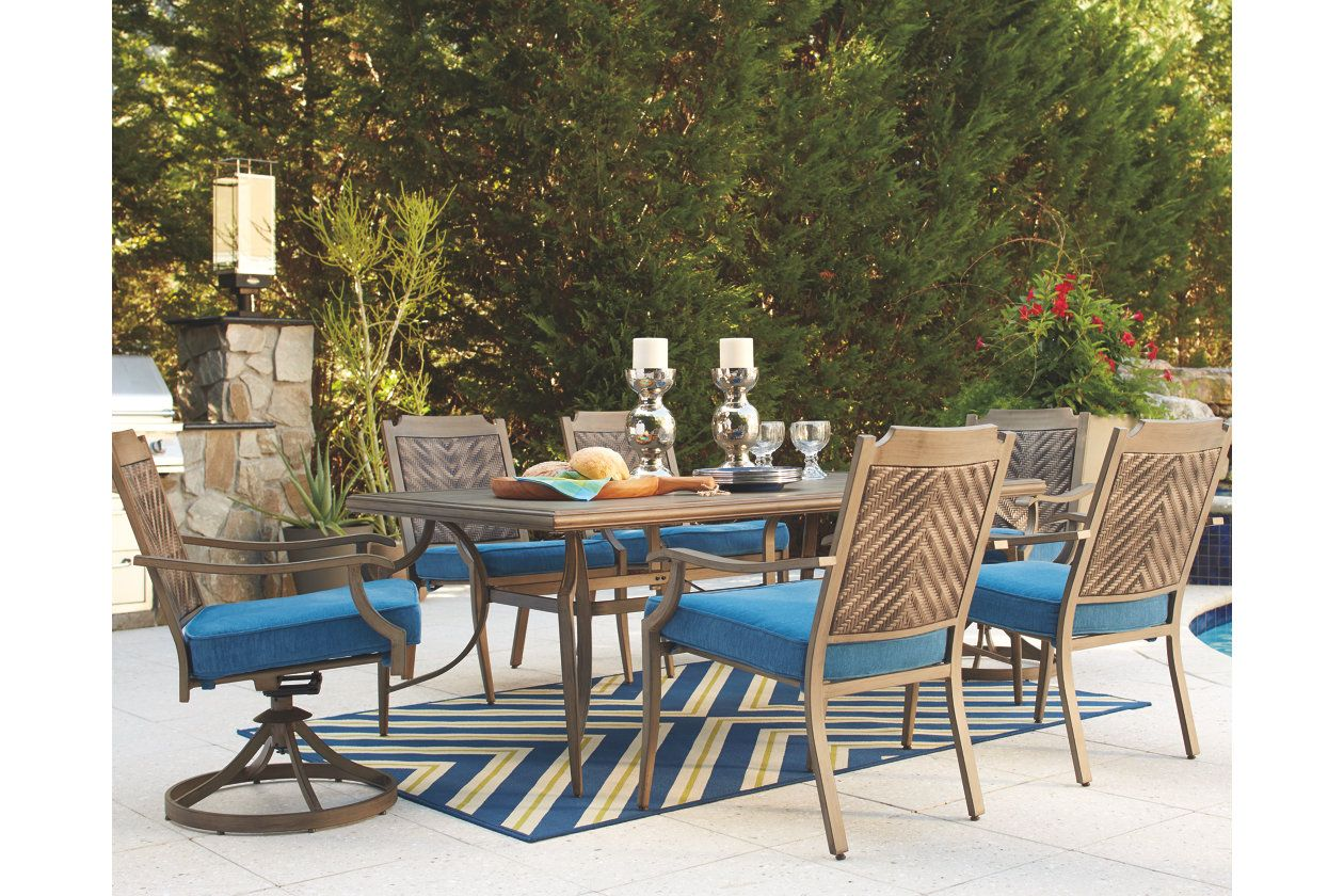 Amazing Partanna 7 Piece Outdoor Dining Set Ashley Furniture Home Interior And Landscaping Staixmapetitesourisinfo