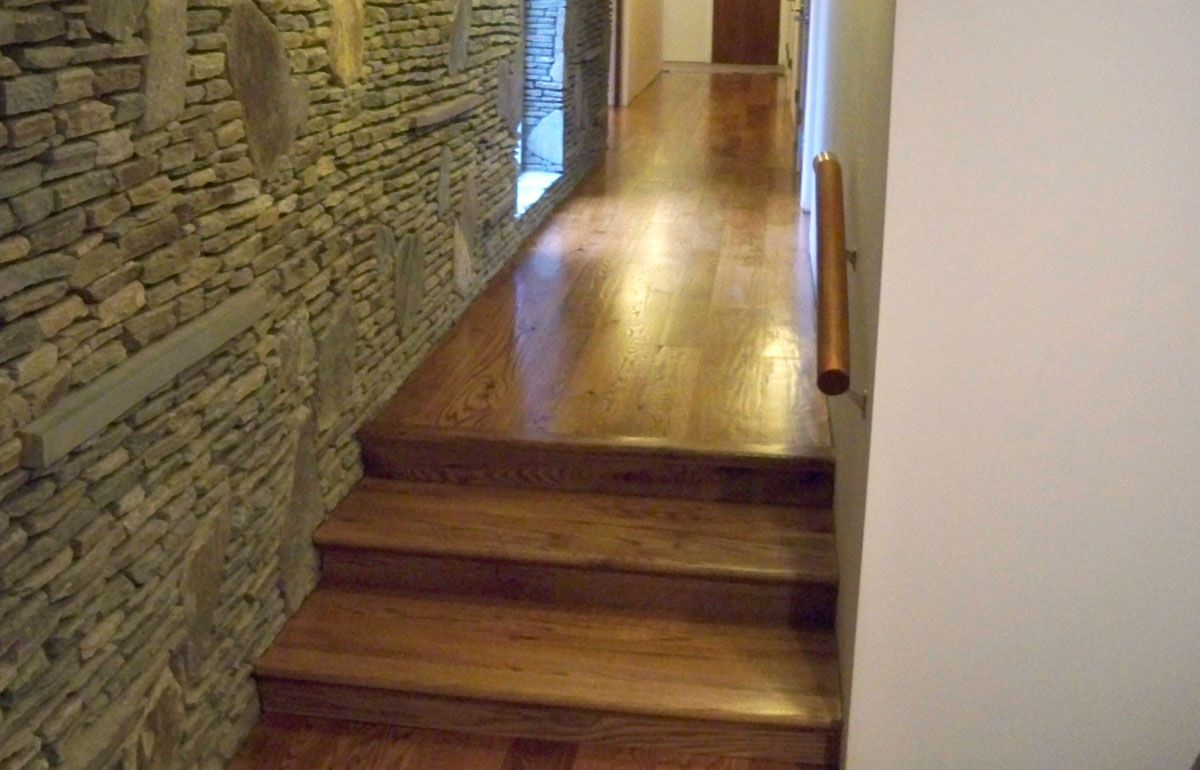 Best Rustic Wormy Red Oak Stair Treads And Risers Stairs 400 x 300