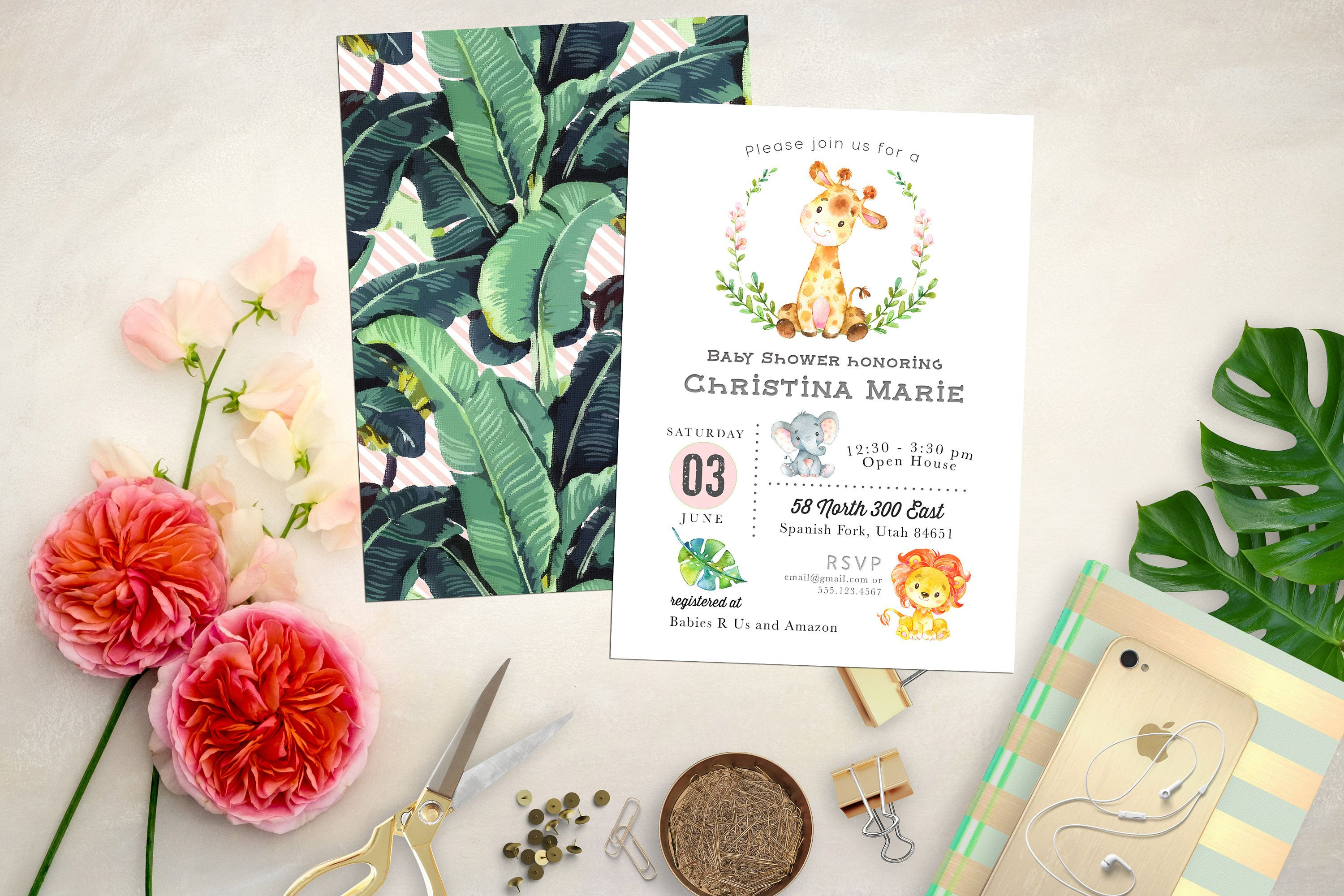 wild party shower invitations young card baby elegant jungle birthday of safari lovely and printable theme invitation