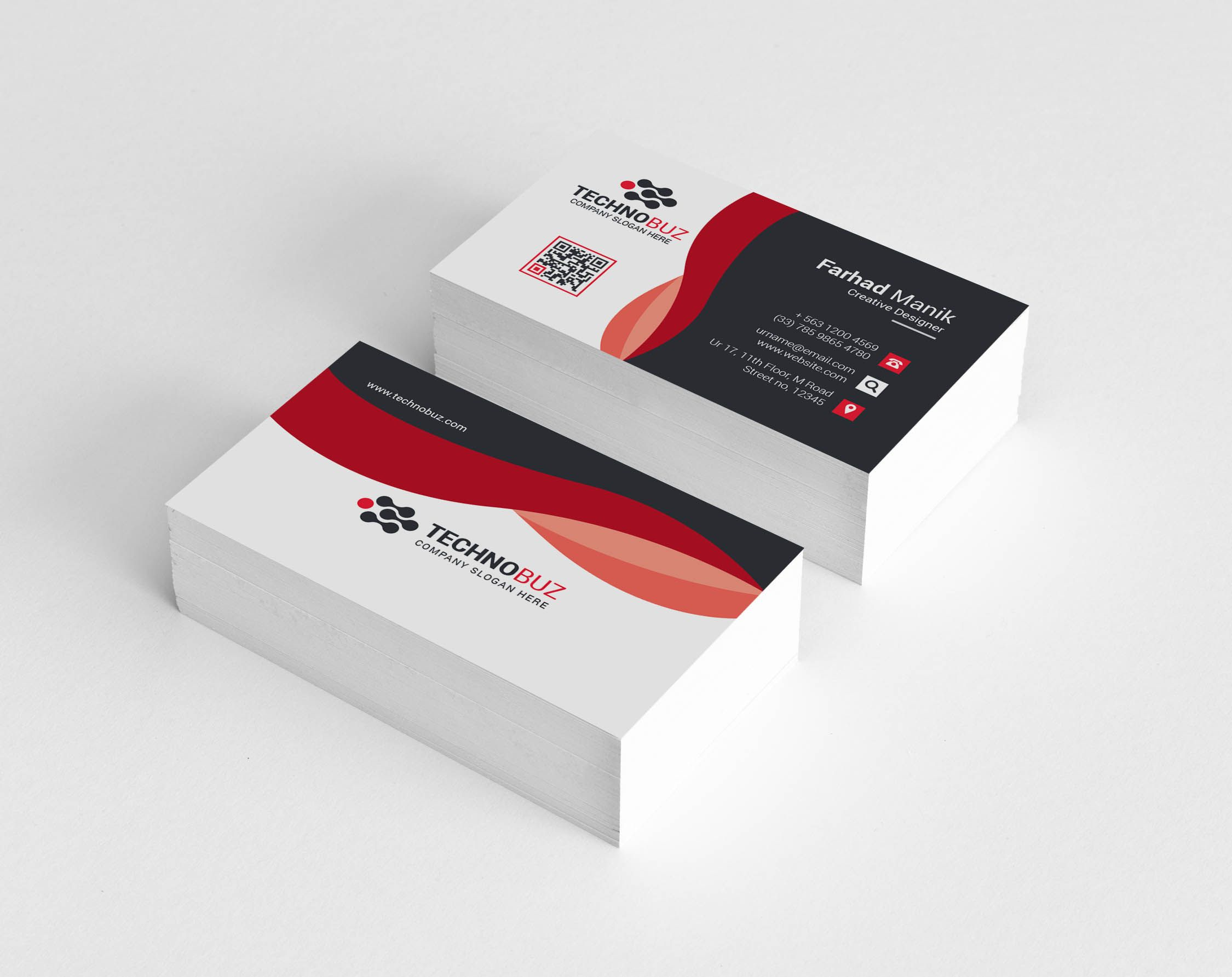 Hypnos Creative Corporate Business Card Template Graphic Templates Corporate Business Card Business Card Template Cleaning Business Cards