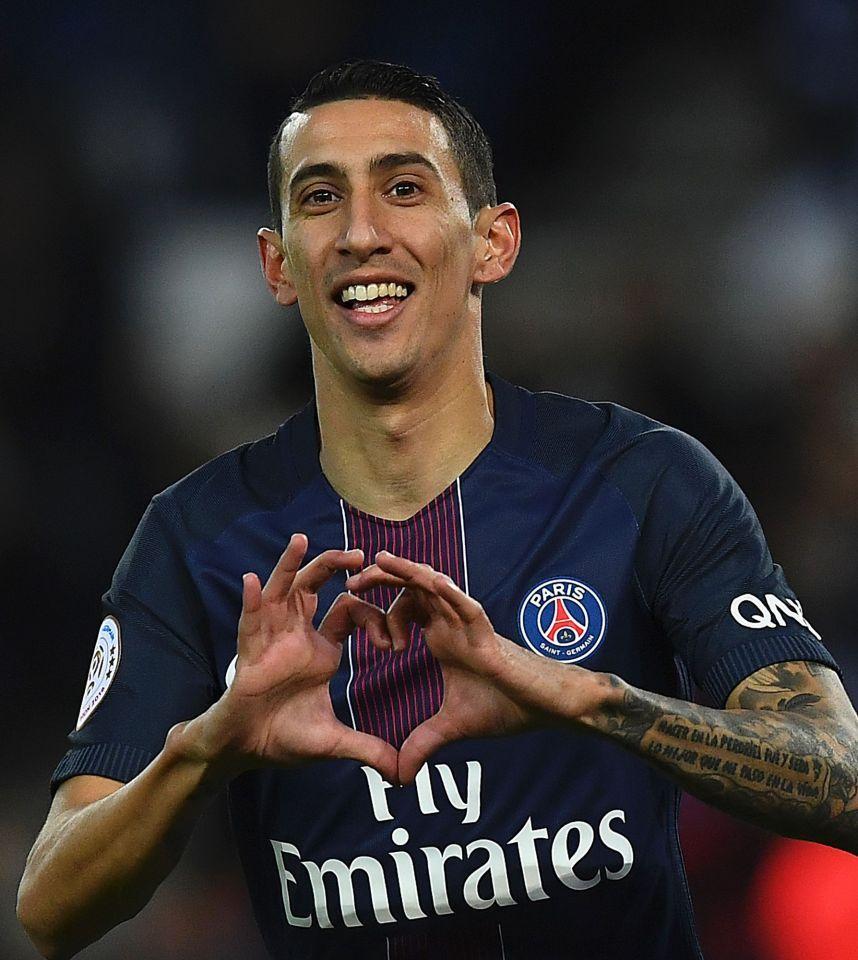 Dimaria Showing His Classic Heart Celebration For Psg Fan360 Paris Saint Germain Football Psg