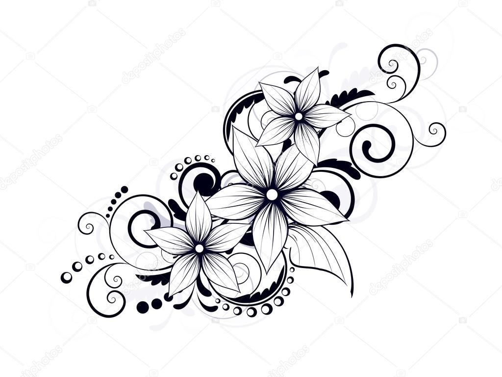 Vector Swirls Colouring Pages With Images Flower Drawing