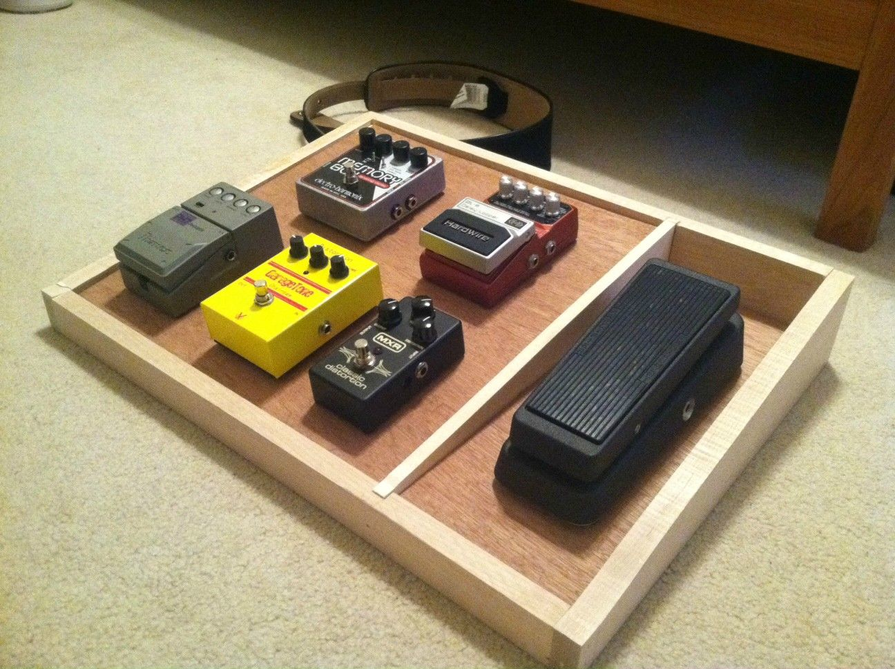 Pedalboard Like The Non Sloped Section For Wah