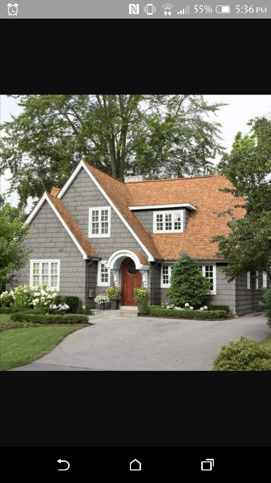 Gray With Tan Roof Brown Roof Houses Exterior House Paint Color Combinations House Paint Exterior
