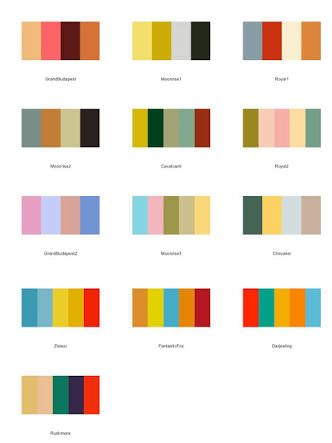 Image Result For Wes Anderson Colour Palette