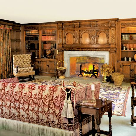 17th Century Sitting Room With Carved Overmantle For A Manor House