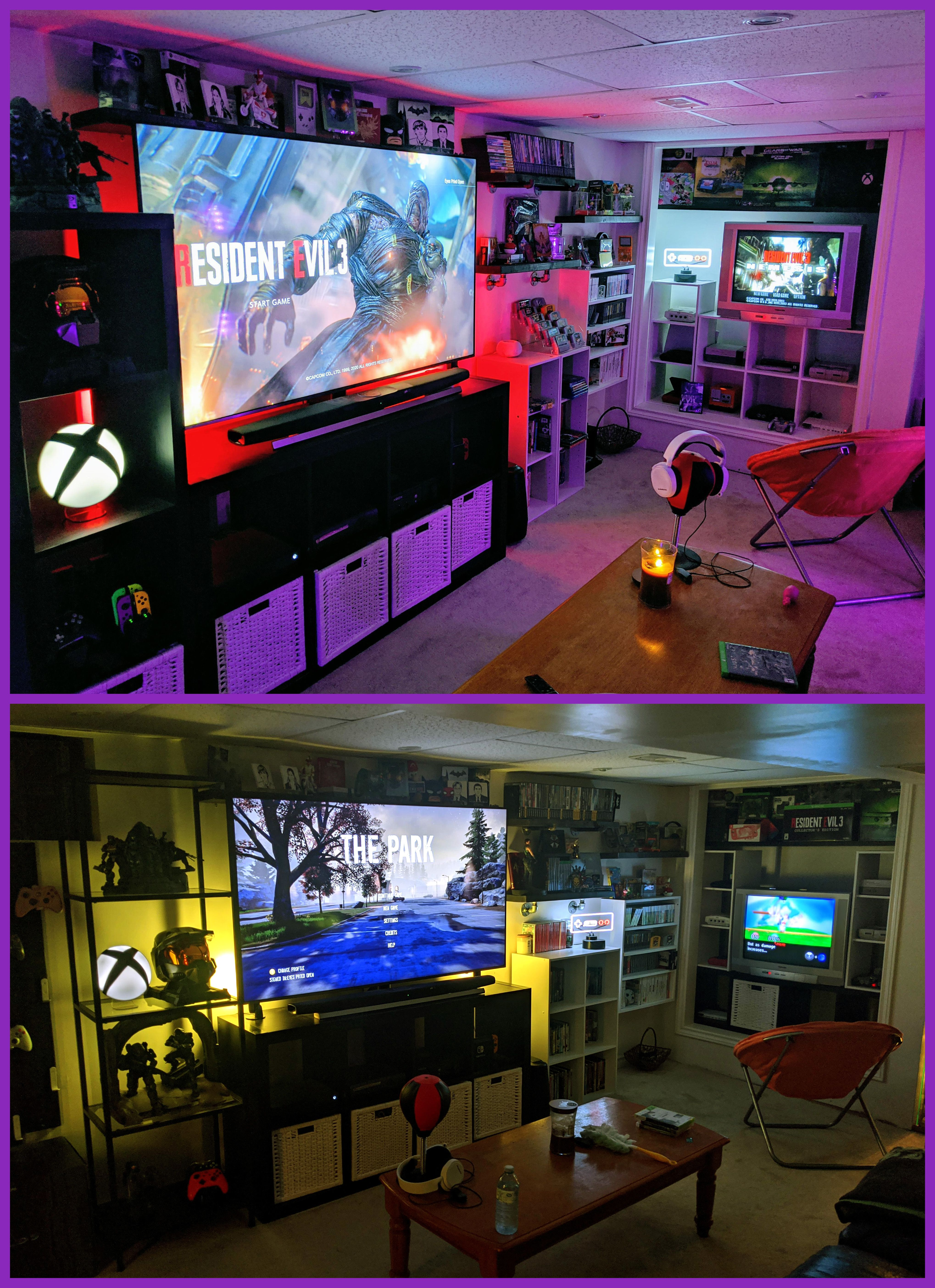 Modern and Retro Gaming Room in 2020 Video game rooms