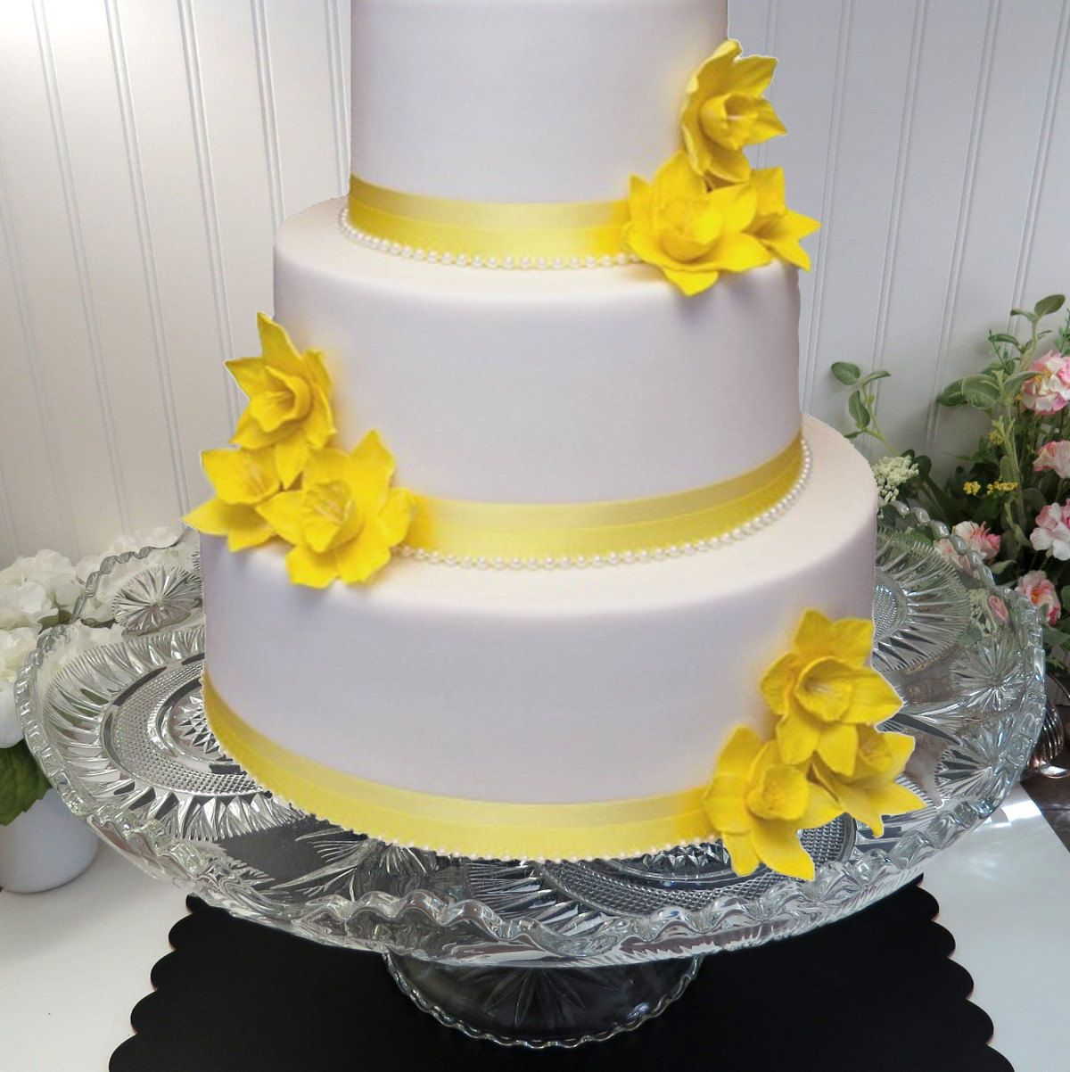 Magnificently Large Footed Glass Wedding Cake Stand made from ...