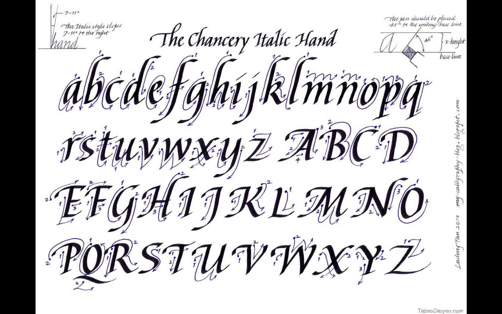 Image result for calligraphy alphabet font Tattoo