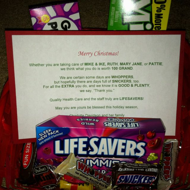 Christmas gift to the staff at a grandmothers nursing home. - Christmas Gift To The Staff At A Grandmothers Nursing Home. Mom