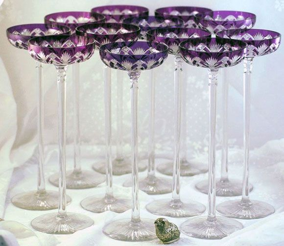 19th century Baccarat Champagne Glasses: Amazing   For the Home ...