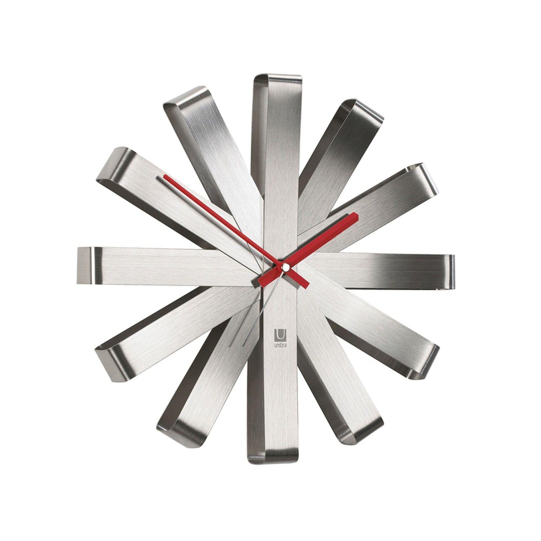 Reloj de pared Ribbon | Relojes de pared, Combinación de colores y Acero